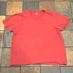 Dusky red shirt sleeve t-shirt